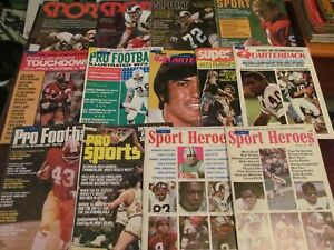 LOT OF 13 SPORTS MAGAZINES mostly FOOTBALL 1960S & 1970S