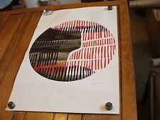 """vintage 1970's Original OP POP ART: June Iffland: SIGNED red black SILVER 22x32"""""""