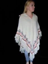 70s VINTAGE BoHo Hippie Southwestern Ethnic Indian Fringed Cape Festival Poncho