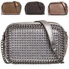 Ladies Metallic Chain Edge Shoulder Bag Girls Evening Bag Studded Handbag KT786
