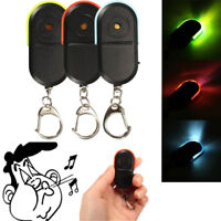 1pc Whistle Sound LED Light Anti-Lost Alarm Key Finder Locator Keychain DeviceTB