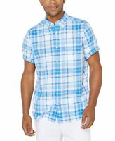 Nautica Mens Shirt Blue Size XL Button Down Stretch Classic Fit $49- 390