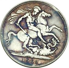 Bare Bust EDWARDVS VII 1902 St. George and Dragon Crown