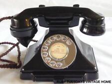 ART DECO BAKELITE VINTAGE TELEPHONE 200 Series Pyramid Phone Dial Retro Antique