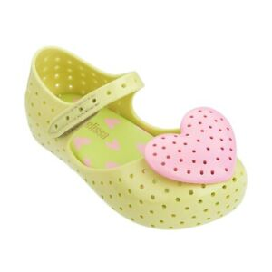 Mini Melissa Lovely Heart Girl Kids Princess Jelly Shoes Sandals US Size 7-12