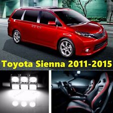 21pcs LED Xenon White Light Interior Package Kit for Toyota Sienna 2011-2015