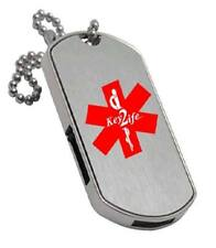 USB Medical Alert GI Style Dog Tag - EMR - Medichip