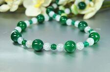 Collar Bello de Verde Ágata con Cristal de Roca