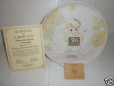 Precious Moment Peace On Earth Plate 1996 New In Box