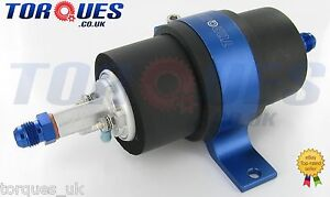 Walbro GSL392 255 LPH Fuel Pump + Billet Cradle + AN-6 (6AN JIC -6) Adapters