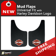 "Universal Fit Mud Flaps - Splash Guards - Harley Davidson - 11""x 19"""