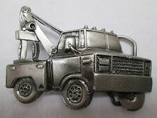 Tow Truck Belt Buckle Heavy Pewter Vehicle Operating Towing
