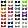 Men Boys Kids Child Tuxedo Satin Solid Color Adjustable Wedding Bowtie Bow Tie