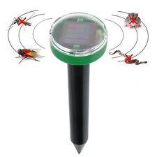 Solar Power Ultrasonic Mosquito Mole Snake Mouse Pest Killer Repeller Control UK
