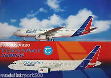 JC Wings 1:200 Airbus A320 Cubana transaer ei-tlj xx2615 + ailes de Herpa