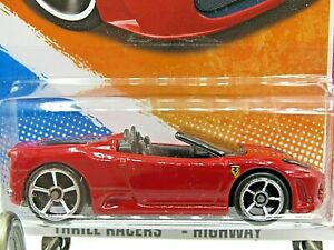 HOT WHEELS VHTF 2011 THRILL RACERS SERIES FERRARI F430 SPIDER