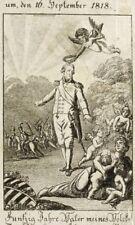 Friedrich August I. re di Sassonia-enti governativi Giubileo-LITOGRAFICO 1818