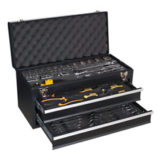 SWS20 Toolbox Portable Chest 2 Drawer BLACK 90pce TOOLKIT Lifetime Guarantee