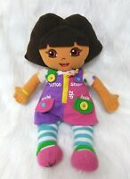 Dora The Explorer Fleece Doll English Spanish Teaches Button Zip Snap B201