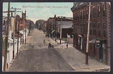 Circa 1909 Vintage Postcard Main Street Looking South BRAMPTON, Ontario, Canada