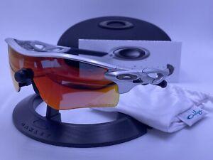 OAKLEY RADARLOCK™ PATH™ Ruby Iridium Polarized ; Matte SILVER CUSTOM AUTHENTIC