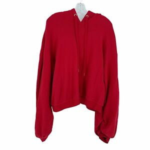 A New Day Red Women's Hoodie Size Large Balloon Sleeves