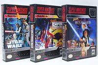 Super Star Wars, Empire Strikes Back, Return Jedi - SNES Custom Cases - NO GAMES