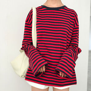 Eboy Egirl Aesthetic Long Sleeved Striped Red And Black Shirt 2020 New Fashion