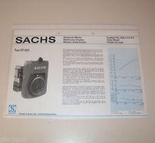 Typenblatt / Technische Daten Sachs Stationär Motor ST 203 - Stand 1976!