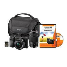 Sony a6000 Camera-24MP Mirrorless Lens Bundle-16-50mm&55-210mm-Full 1080p HD-NIB