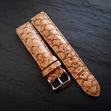TechnoMarine Genuine Fish Skin 17mm Watch Strap Hand Made Perche Du Nil Leather