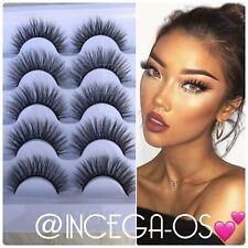 ✨🎀 5 Pairs Natural Mink Lashes Eyelashes Makeup 6D • USA SELLER🎀✨