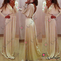 Womens Floor Length Prom Cocktail Evening Party Maxi Gown Ladies Formal UK Dress