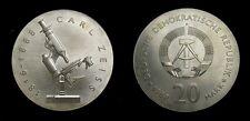 Germany 1988A Democratic Republic 20 Mark, Carl Zeiss, KM-124, BU, Rare  4918