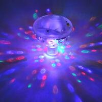 Underwater Disco Aqua Glow LED Floating Night Light Show Pond Pool Spa Tub Lamps
