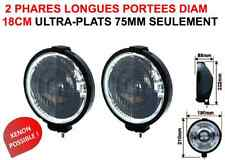 2 Phares Longues Portées 180mm Ultra-Plats 75mm JEEP PAJERO DEFENDER HUMMER L200