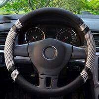 All Seasons Grey 38cm Microfiber Leather Ice Silk Steering Wheel Cover Cooling