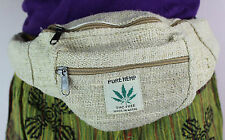 HEMP HANDMADE WAIST BUM BAG FANNY PACK BELT MULTI-POCKET TRAVEL FESTIVAL M001