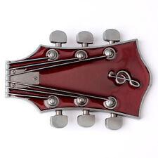 Vintage Music Guitar Belt Buckle Western Cowboy Native American (GTR-03-PP)