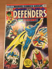 THE DEFENDERS #28 BRONZE AGE 1975 1ST FULL STARHAWK F- 5.5
