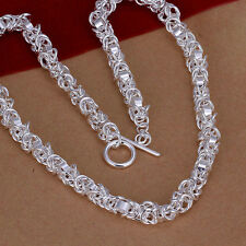 XMAS wholesale free shipping sterling solid silver T-O chain necklace YN648+box