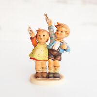 Hummel Goebel Auf Wiedersehen Boy Girl Waving Goodbye Figurine TMK2 153/0 1970s