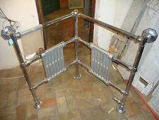 Very unusual antique ideal standard art deco corner towel rail radiator