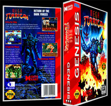 Mega Turrican - Sega Genesis Reproduction Art Case/Box No Game.