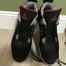 Men's Nike Jordans bred 4s Size 16