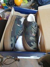 Polo Ralph Lauren Men US 10.5D Thorton Fashion Sneakers Cotton Canvas Camo Shoes