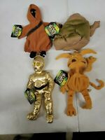 Lot Of 3 Vintage 1997 Kenner Star Wars Buddies Jabba Jawa Crumb C3po (Dd)...