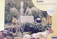 Solar Pumpe Teichpumpe RIVA Springbrunnen Garten Brunnen  Teich Wasser OHNE AKKU