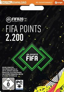FIFA 20 - 2200 Ultimate Team Points EA Origin Code Email Lieferung