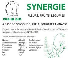 Purin Synergie 2L Pur in Bio, consoude, prêle, fougère, vinasse, fertilisant